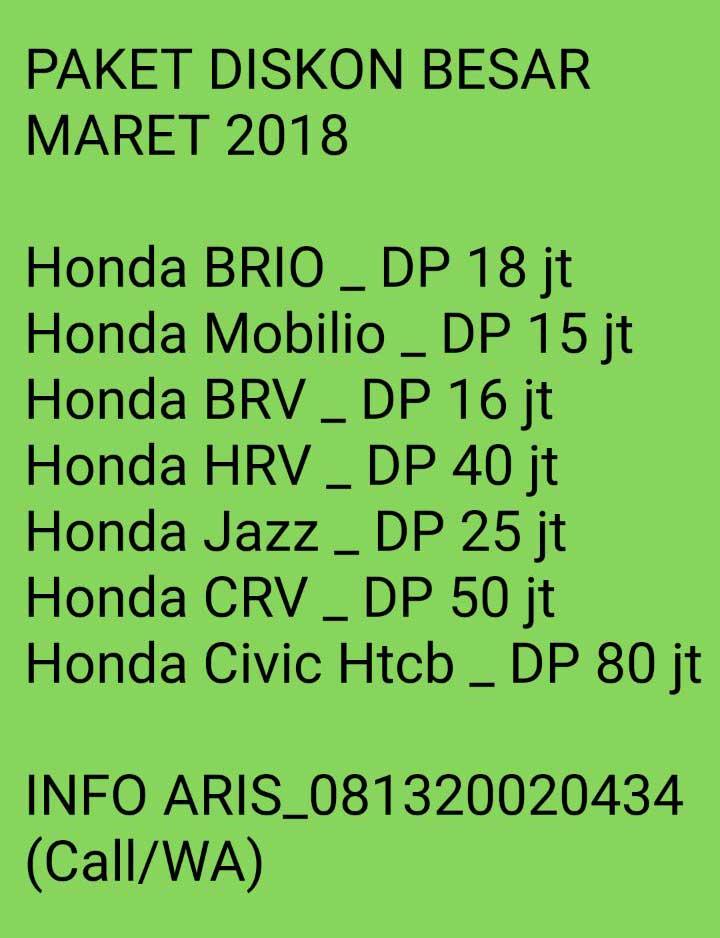 Promo Honda By Aris