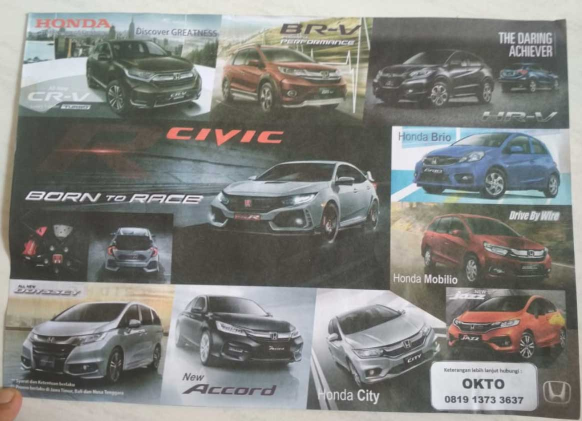 Promo Honda By Okto