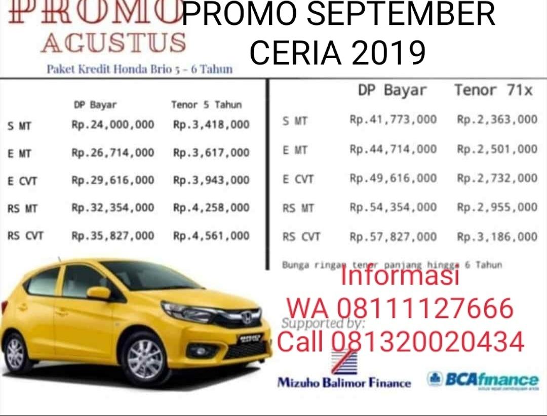 Promo Mobil Honda By Aris